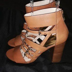 Michael Kors Shoes Leather Block Heel Sandals 9